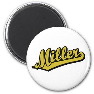 Miller no ouro imã de refrigerador