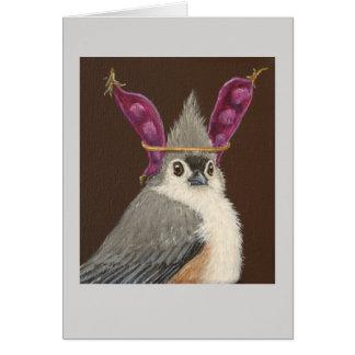 Milo o cartão adornado do titmouse
