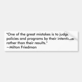 Milton Friedman em programas governamentais Adesivo Para Carro