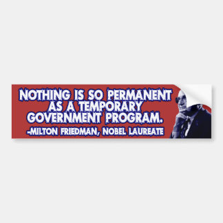 Milton Friedman em programas governamentais provis Adesivo