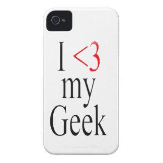 Mim <3 minhas capas de iphone do geek capas para iPhone 4 Case-Mate