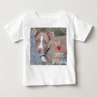 Mim a camisa das crianças dos pitbull do coração