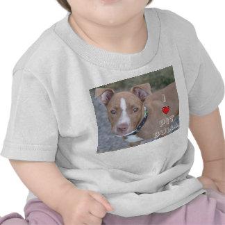 Mim a camisa das crianças dos pitbull do coração tshirts