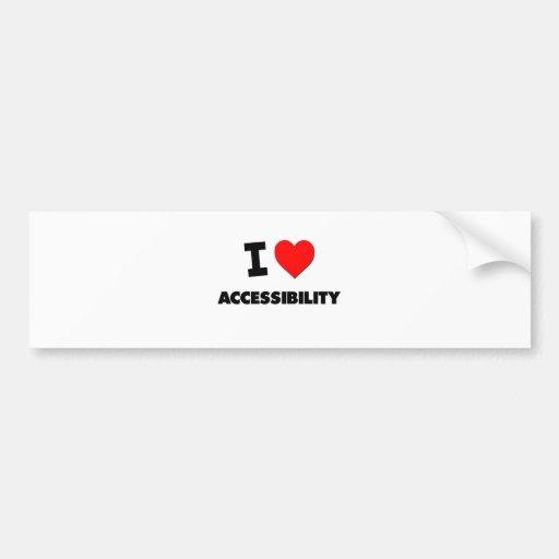 Mim acessibilidade do coração adesivos
