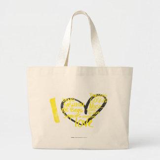 Mim amarelo dos grafites do coração bolsa para compra