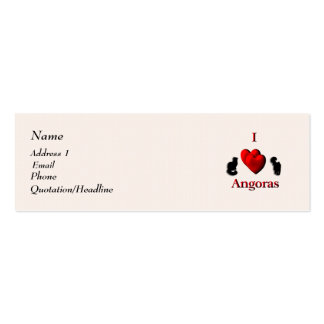 Mim angoras do coração cartão de visita skinny