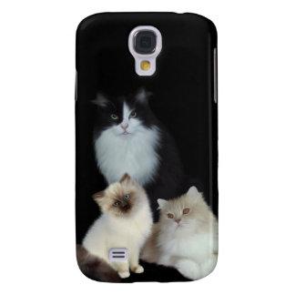 mim animais três gatos galaxy s4 covers