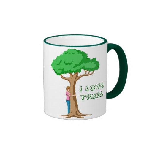Mim árvores de amor caneca