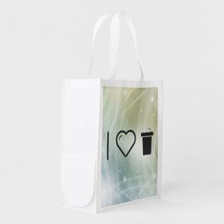 Mim atris do coração sacola ecológica para supermercado