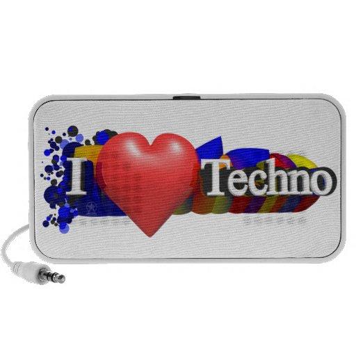 Mim auto-falante de Techno do coração Caixinha De Som Para iPod