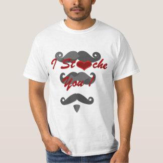 Mim bigode você com bigodes diferentes camiseta