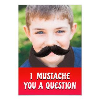 Mim bigode você uma pergunta - cartão do dia dos