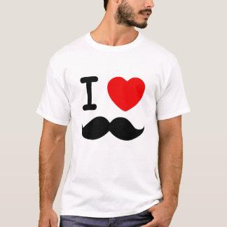 Mim bigodes do coração camiseta