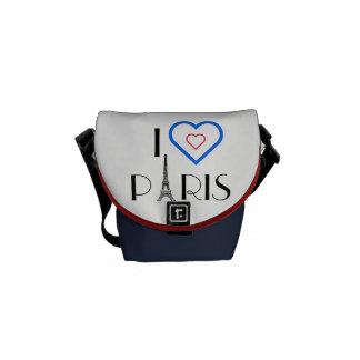 Mim bolsa mensageiro da torre Eiffel de Paris do