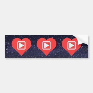 Mim botões do jogo do coração adesivo para carro
