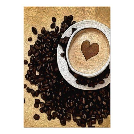 Mim café do coração convites personalizado