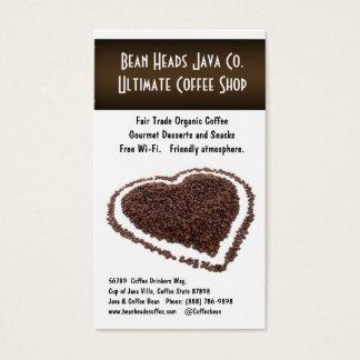 Mim café do coração!  Feijões de café dados forma Cartão De Visitas