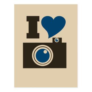 Mim câmera do coração cartão postal