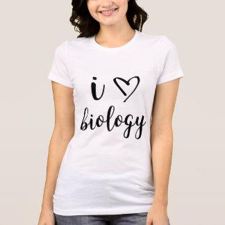 Mim camisa da biologia do coração
