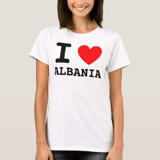 Mim camisa de Albânia do coração