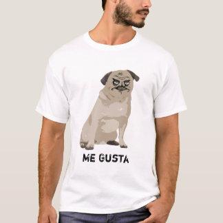 Mim camisa do cão T do Pug da raiva de Gusta Meme