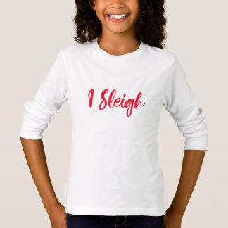 Mim camisa engraçada do Natal do trenó
