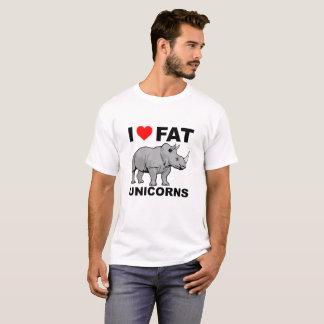 Mim camiseta engraçada gorda do rinoceronte do