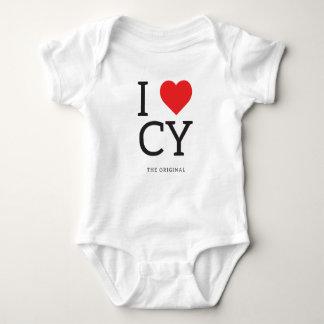 Mim camisetas de Chipre do amor de CY do coração