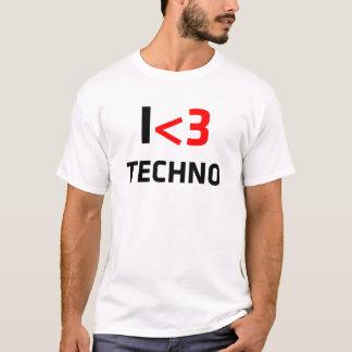 Mim camisetas impressionantes de Techno