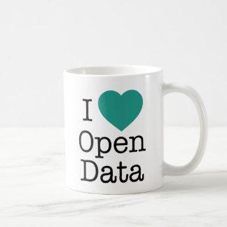 Mim caneca aberta dos dados do coração