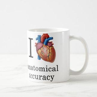 Mim caneca anatômica da precisão do coração