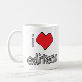 mim caneca de café branco do editerz do coração