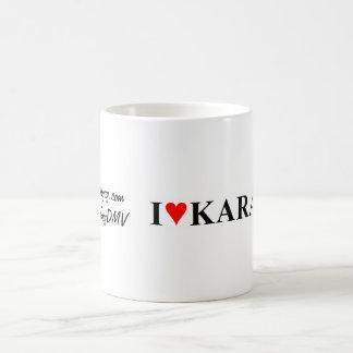 """""""Mim caneca de café do karaoke do coração"""""""