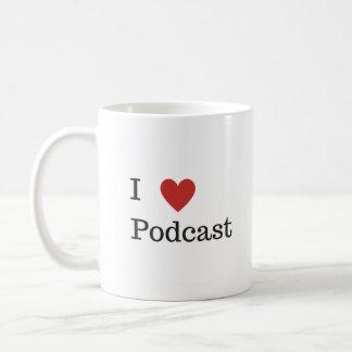 Mim caneca do Podcast do coração