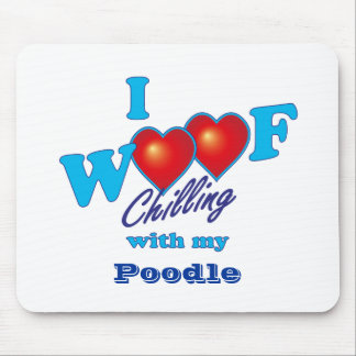 Mim caniche do Woof Mouse Pad