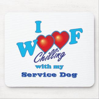 Mim cão do serviço do Woof Mouse Pad
