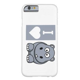 Mim capa de telefone dos hipopótamos do coração capa barely there para iPhone 6
