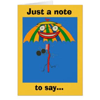 Mim cartão de nota da senhorita Você