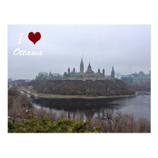 Mim cartão de Ottawa do luv do monte do parlamento