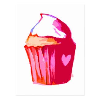 mim cartão do bolo do coração cartões postais