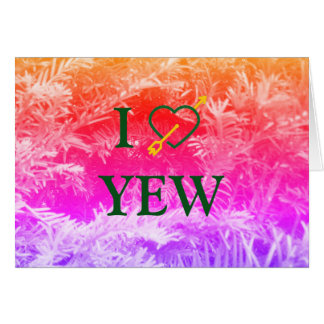Mim cartão do YEW do *Heart*