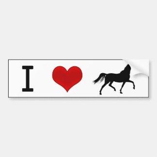 Mim cavalos do coração adesivo para carro