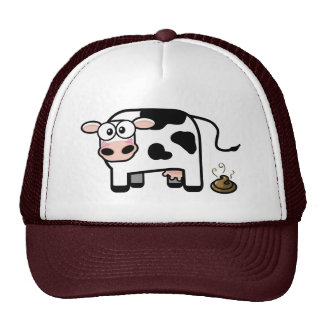 Mim chapéu engraçado da vaca de Pooped Boné