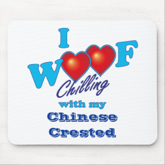 Mim chinês do Woof Crested Mouse Pad