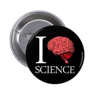 Mim ciência de cérebro (eu sei a ciência) (a ciênc bóton redondo 5.08cm