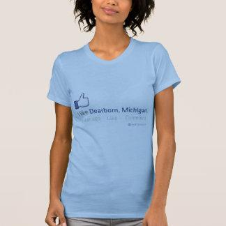 """Mim """"como"""" o T das senhoras de Dearborn Michigan Tshirts"""