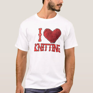 Mim confecção de malhas do coração (amor) camiseta