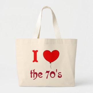Mim coração a sacola do estilo do vintage dos anos bolsa para compras