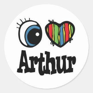Mim coração (amor) Arthur Adesivo Redondo