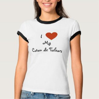 Mim coração (amor) meu algodão de Tulears Camisa